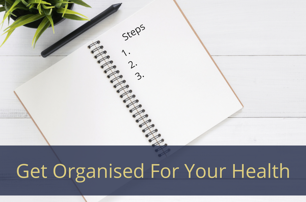 3 Steps To Get Organised For Your Health